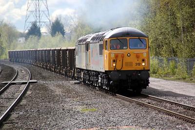 56312_56302 1642/6z34 Cardiff Tidal-Shipley Scrap train.