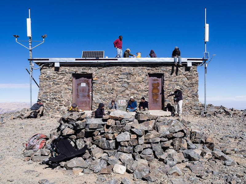 Sunning on the summit
