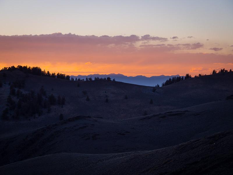 Sunset over the Sierra