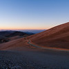 Low-angle lit hillside