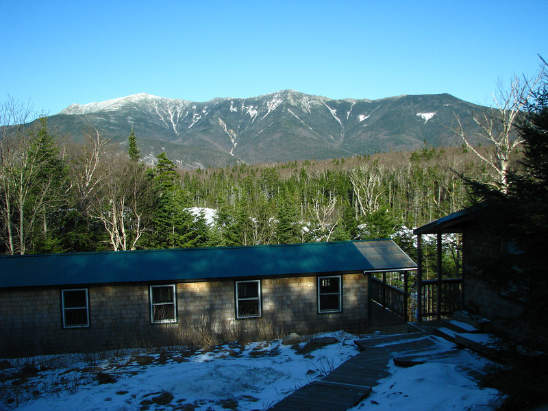 Then up to Lonesome Lake Hut, with a view of Mount Lafayette.