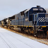 New NS SD60 in the Ithaca Yard on Christmas  Eve