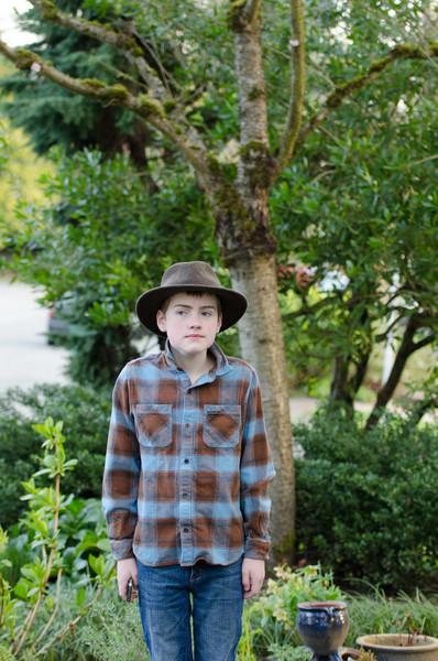 Gordon dressed for Western Days at school.