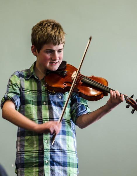 Gordon at a violin recital.