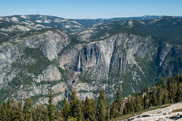 View of Yosemite Falls from Sentinal Dome … took this in case we ever want to scout out Moonbows from here