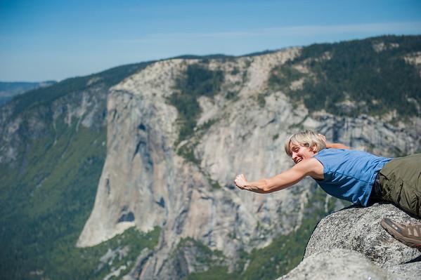 Superman! 2,000 foot drop below and El Capitan in the background