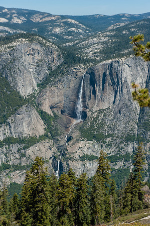 Another view of Yosemite Falls, this time from below Sentinal Dome on the Pohono Trail (sentinal dome is pretty much above my head)