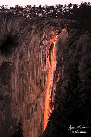 Yosemite Horsetail Falls Firefall