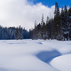 Snow-covered meadow