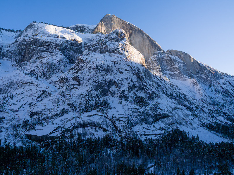 Half Dome, towering above