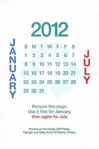 July, January, 2012, Cedar Cliff Press