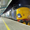 37423 on arrival at Carlisle after working the 16:48 from Sellafield 10/02/12