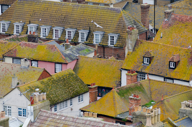 Roofs of Hastings, England