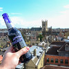 Cambridge The Varsety Hotel Roof Bar, view on St John College