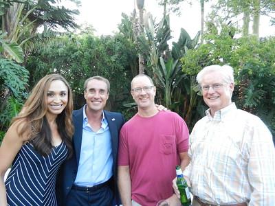 Mercedes and Gerry Morton, Matt Peck and Jim Hallett.