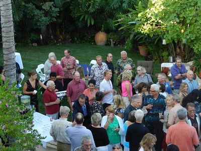 Nice crowd to celebrate Tom's Presidency.