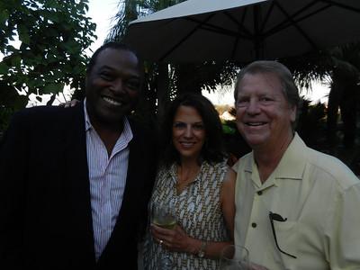 Larry Johnson, Kathleen and Dr. Michael Adams.