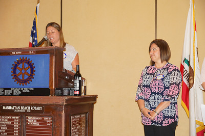 Manhattan Beach Preschool - Kim Johnson, Director of Children's Services and Preschool Teacher of the Year, Isabel Estevez.