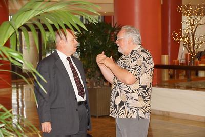PDG Ingo Werk explaining the Art of Diplomacy to President Tom Jeffry.