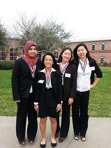 Event: HOSA BOWL  Team pictured left to right (Huson Nounu, Stephanie Kuo, Molly Chen, Annie Chen)