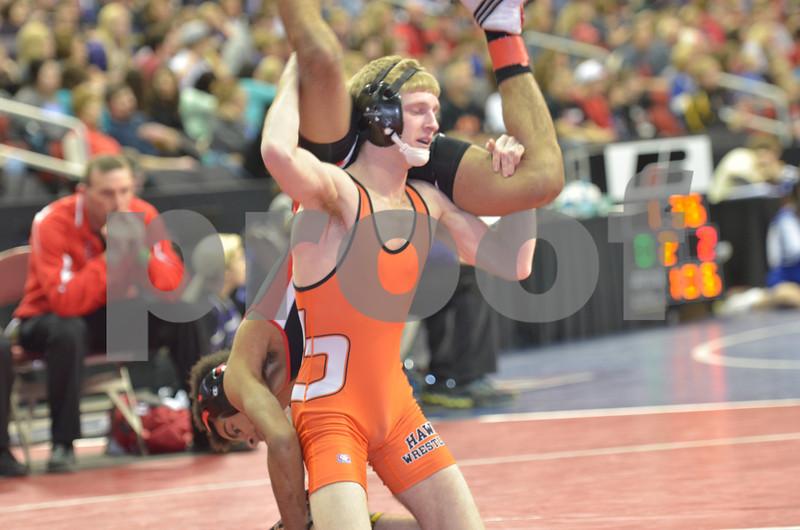 2013 Iowa High School State Individual Tournament - 2A <br /> 1st Round  - 113 - Zach Less (West Delaware) dec Chris Hopkins (Harlan) 9-5