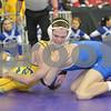 2013 Iowa High School State Individual Tournament - 2A <br /> 1st Round  - 120 - Elliot Henderson (West Liberty) dec Grant Sherman (Saydel) 6-3