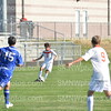 Junior Cody Peterson kicks the ball to a fellow player on Sept. 4 at SMAC. They tied 0 to 0.
