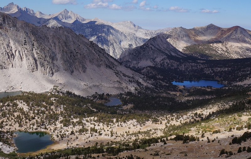 View from Kearsarge Pass looking into Kings Canyon National Park.  Elevation 11,760.