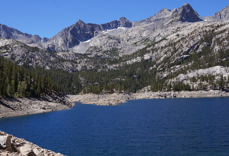 Not even a couple hundred yards from the parking area, you are already wrapped up in the beauty of the Sierras.  This is South Lake.