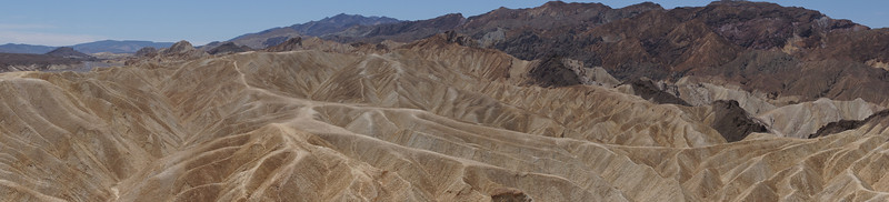 A wider panoramic shot at Zabriskie Point.