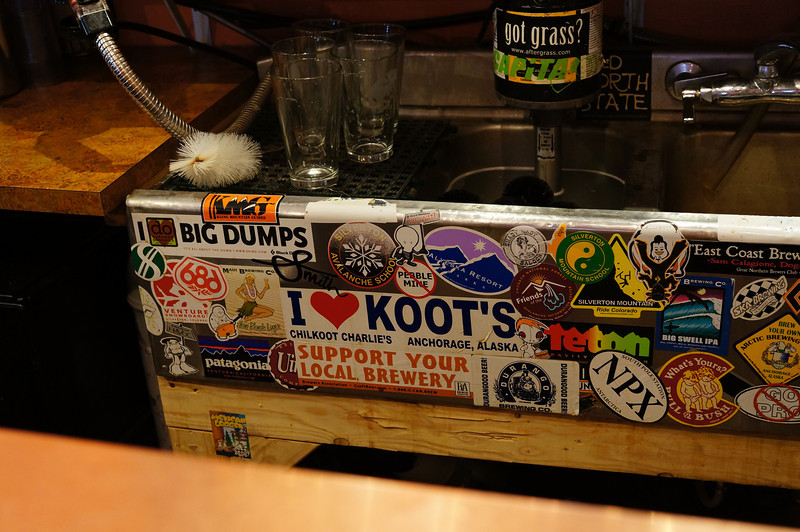 "Why is it that my brain first focused in on the sticker in the upper left that says, ""I [heart] BIG DUMPS""???  Ha.  The guy sitting next to me at the bar was a local that seemed very friendly (and with a sense of humor), so I asked him about the sticker.  He giggled and started by saying that every guy loves a good dump...but that the sticker refers to big SNOW dumps, because the biggest source of income for the town of Silverton in the winter is skiing."