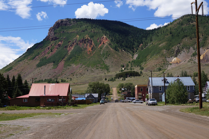 The main road through the town of Silverton was nicely paved, but most of the others in town were dirt.