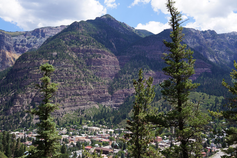Looking west over Ouray, Colorado