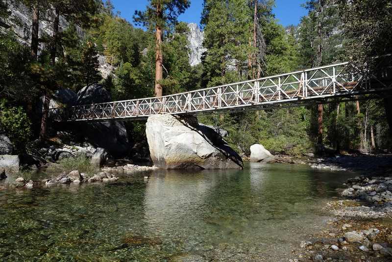 Bridge over the South Fork of the Kings River in Kings Canyon National Park.