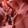 Me, setting up the next shot.  In lower Antelope Canyon.