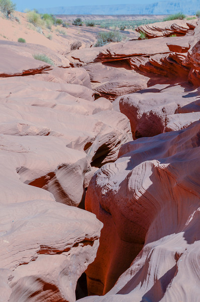 """This is the entrance to the slot canyon called """"Lower Antelope""""."""