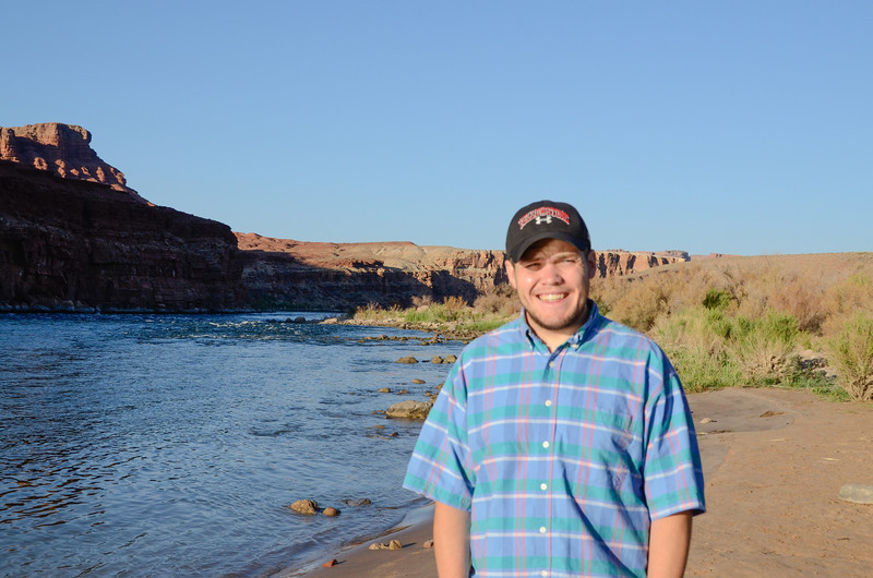 Andrew at the Colorado River