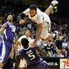 "Colorado Washngton NCAA Men156.JPG Carlon Brown of CU flies over Aziz N'Diaye of Washington<br /> during the first half of the January 5, 2012 game in Boulder.<br /> For more photos of the game, go to  <a href=""http://www.dailycamera.com"">http://www.dailycamera.com</a>.<br /> January 5, 2012 / Cliff Grassmick"