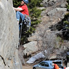 "Climbing Castle Rock in Boulder Canyon56.JPG Adam Brink climbs up one of the routes at Castle Rock Sunday afternoon.<br /> For more than 50 years, no one has done any maintenance to the pullout loop by Castle Rock in Boulder Canyon. That's because land management agencies all thought it was the other guys' problem. Turns out, its Boulder County's problem ( in part), so now the open space department is proposing some upgrades to the area.<br /> For more photos of climbing, go to  <a href=""http://www.dailycamera.com"">http://www.dailycamera.com</a>.<br /> Cliff Grassmick / March 18, 2012"