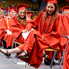 "Fairview 2012 Graduation59.JPG Fairview graduate, Regan Payne, tries to avoid a little white mouse that showed up at graduation on Sunday.<br /> For more photos and a video of Fairview, go to  <a href=""http://www.dailycamera.com"">http://www.dailycamera.com</a>.<br /> Cliff Grassmick / May 20, 2012"