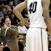"University of Colorado Head Coach Tad Boyle yells to Josh Scott, No. 40, during a game against Texas Southern on Tuesday, Nov. 27, at the Coors Event Center on the CU campus in Boulder. For more photos of the game go to  <a href=""http://www.dailycamera.com"">http://www.dailycamera.com</a><br /> Jeremy Papasso/ Camera"
