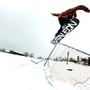 "Aaron Rosano, 19, of Boulder, spins a 180 off a jump on Friday, Feb. 3, at New Vista High School in Boulder. For a video of the rail jam go to  <a href=""http://www.dailycamera.com"">http://www.dailycamera.com</a><br /> Jeremy Papasso/ Camera"