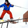 "University of Colorado freshman Tucker Brumley grinds a rail on Friday, Feb. 3, at New Vista High School in Boulder. For a video of the rail jam go to  <a href=""http://www.dailycamera.com"">http://www.dailycamera.com</a><br /> Jeremy Papasso/ Camera"