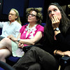 CONCEALED WEAPONS395.JPG University of Colorado English Professors from left to right Tiffany Beechy, Nan Goodman and Jane Garrity listen to Colorado State Representative Claire Levy during a discussion of the concealed weapons on campus issue  on the University of Colorado Boulder Campus on Friday September 21  2012.<br /> Photo by Paul Aiken / The Camera