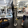 "Jordan Walters086.JPG Jordan Walters lifts weights in the company of her seeing eye dog Plato at the East Boulder Community Center on Wednesday morning August 15, 2012. Walters is readying to go to London to compete in the 2012 Paralympic Games. Walters was on the 2010 World Goalball Championship team. For a video of Walters workout go to  <a href=""http://www.dailycamera.com"">http://www.dailycamera.com</a><br /> Photo by Paul Aiken / The Daily Camera"