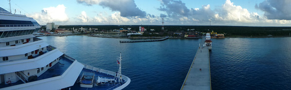 The Carnival Valor docked in Cozumel, Mexico.