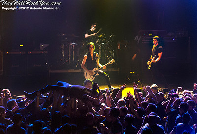 Filter performs on March 8, 2012 at The Gramercy Theatre in New York, NY