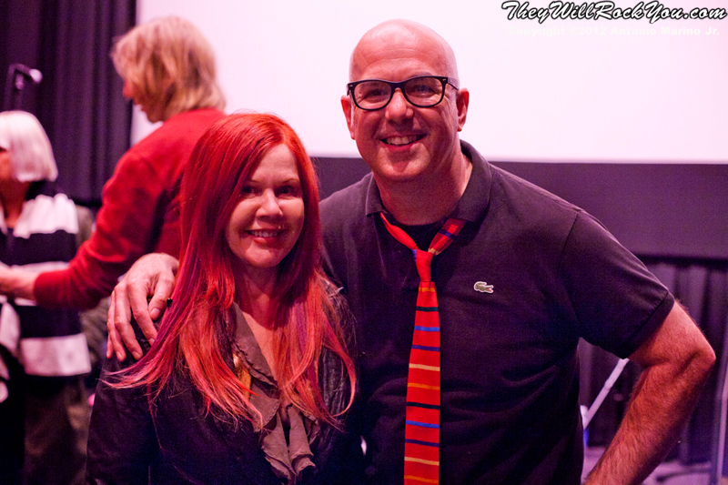 Hit So Hard movie premiere; The B-52's Kate Pierson with filmmaker P. David Ebersole