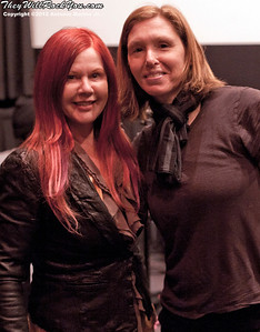 Hit So Hard movie premiere; The B-52's Kate Pierson with Patty Schemel