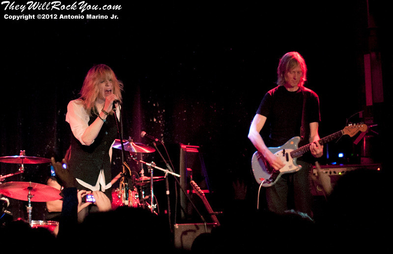 The classic Hole lineup from the mid-90s re-unites; Hit So Hard after party; Courtney Love; Eric Erlandson; Patty Schemel; Melissa Auf der Maur